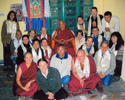 LRZTP 5 students with Lama Zopa Rinpoche