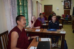 Geshe Wandrak teaching Tibetan